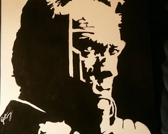 Painting of Clint Eastwood