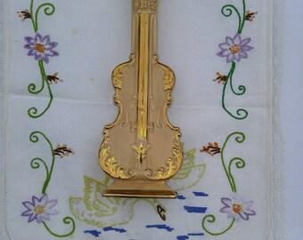 Cello Violin Vintage Wall Pocket, Wall Vase, Wall Planter; Vintage Goldra Potteries, Vintage Planter, Vintage Vase, Cello Planter