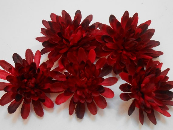 Red mum flowers artificial flowers fake flowers crafting red mum flowers artificial flowers fake flowers crafting flowers bulk flowers silk flowers floral crafting supply flowers from thelacemoon on mightylinksfo