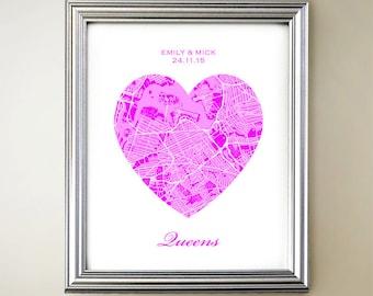 Queens Heart Map