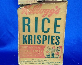Carrie Fisher Estate: Vintage Kellogg's Rice Krispies Cereal Box