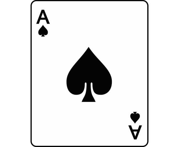 Ace Of Spades 1 Playing Card Gambling Gamble Casino Bet