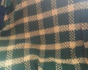 Plaid crochet afghan