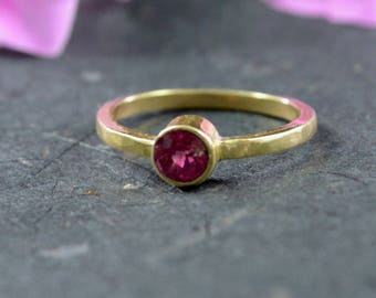 Tanzanian Spinel Stacking Ring // 14k Yellow Gold Jewelry // Spinel Ring // Alternative Engagement Ring // Village Silversmith