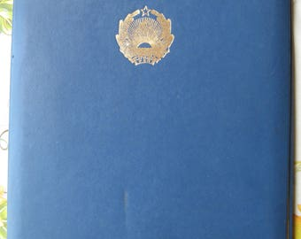 Vintage Soviet Folder for Papers. USSR 1970