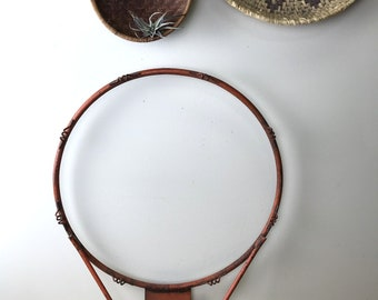 Unmarked Vintage Orange Rusty Basketball Hoop Rim