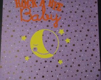 Rock a bye baby wall decor