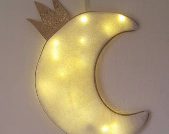 Moonlight pendant in glittery gold tulle