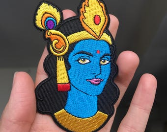 Krishna Patch/ Iron-on Applique/ Hare Krishna