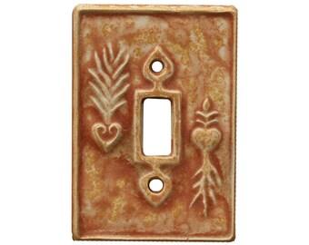 Charms Single Toggle Ceramic Light Switch Cover in Sandstone Glaze