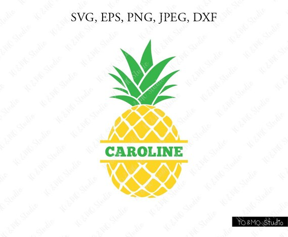 Download Pineapple Split Monogram SVG Pineapple SVG Pineapple