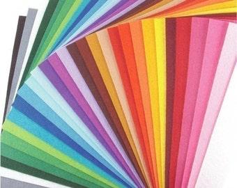 Plain Felt Fabric - 30 Colors Collection - 20cm x 20cm per sheet