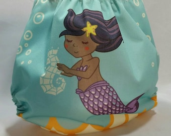 Mermaid One Size Pocket Diaper