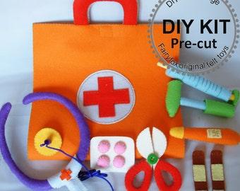 Felt toys-Felt Medical bag, Doctor Set-K-T22