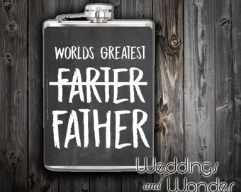 World's Greatest Farter Father's Day - Flask