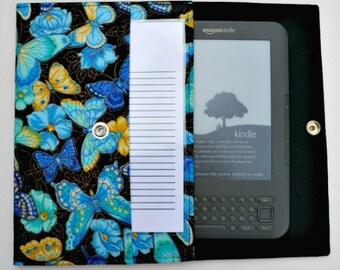 iPad Mini, Kindle, Nook, Kobo, Sony Reader, Samsung Galaxy, Small eReader Padded Case (READY TO SHIP) - Butterflies