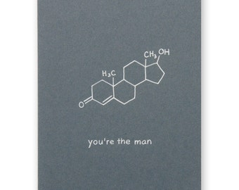 Man Nerd Chemistry Card - You're The Man - Father's day, Birthday, Guy Science Geek card