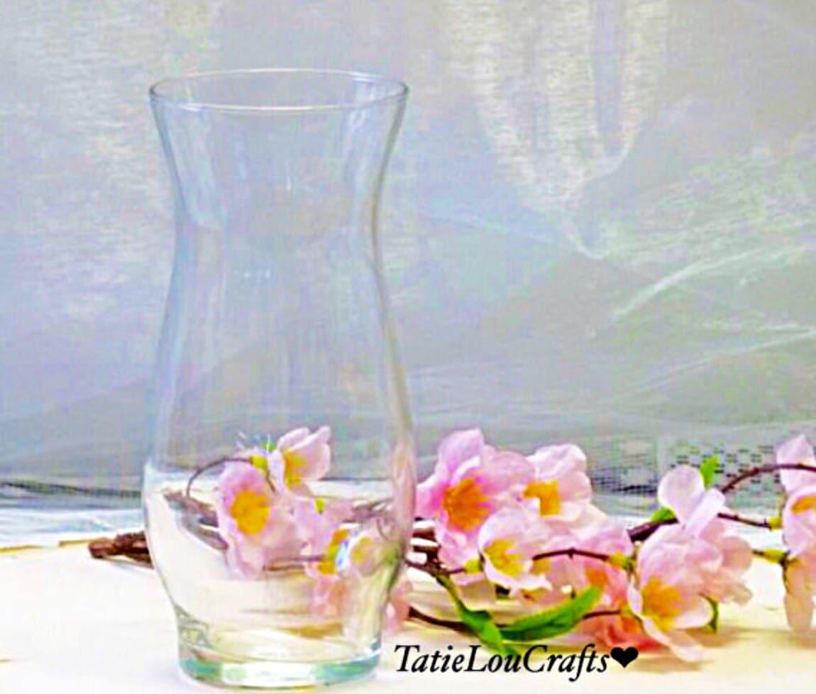Set of 10 glass hurricane stem vases 6 12 tall wedding zoom reviewsmspy