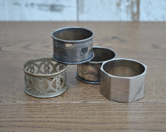 Vintage collection of metal napkin rings - Mixed
