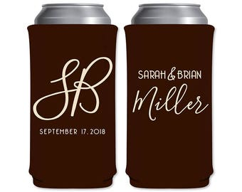 8.3 oz Slim Beer Can Coolers Beverage Insulator Personalized Wedding Favors | Classic (7A) | Energy Drinks/Michelob Ultra | READ DESCRIPTION