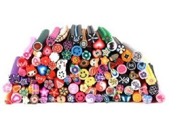 50 x 5mm ASSORTED fimo canes