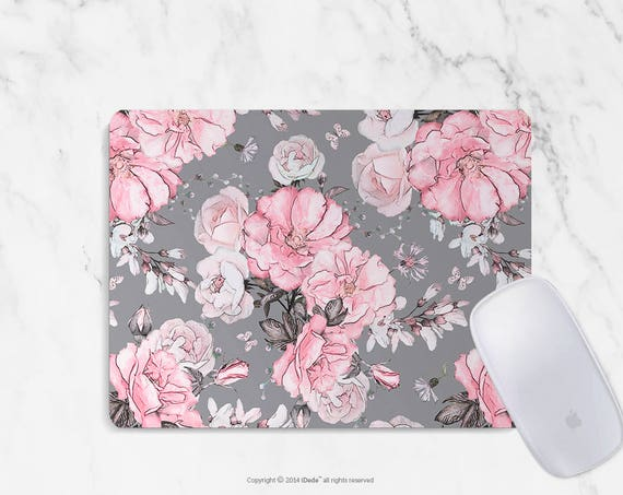 Mousepad floral mouse pad Round or Rectangle Mouse pad Beautiful Design Floral Mouse pad Cute gift Mousepad 9