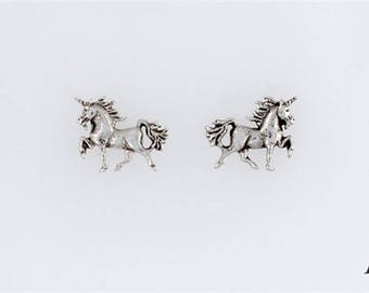 Sterling Silver Unicorn Charm, Post, Dangle Earrings or Necklace