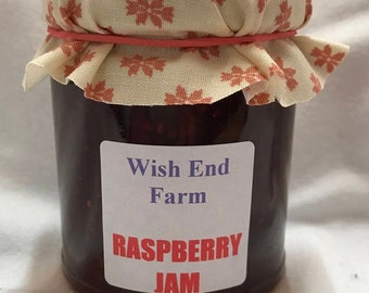 Raspberry Jam, Homemade Jam,  200g (7oz) Jar, Food Gift, Jam Gift, Teacher Gift, Birthday Gift, Hostess Gift, Easter Gift