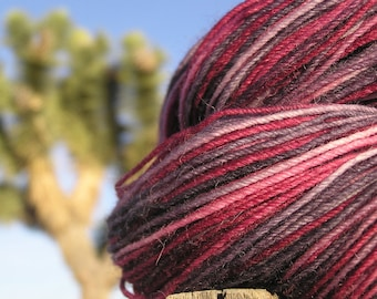 Fingering Weight Yarn - alpaca merino nylon - Poke berry