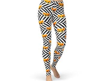 Sunglass Fox Striped Leggings