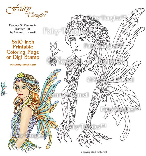 Acacia Fairy Queen Printable Coloring Book Sheets And Pages By