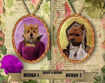 Norwich Terrier Jewelry Norwich Terrier Pendant Norwich Terrier Dog Charm Norwich Painting Custom Dog Jewelry Porcelain Nobility Dogs