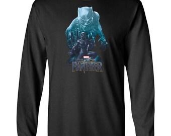 Marvel Black Panther T Shirt Wakandas Finest Shirt Adult Long Sleeve T-Shirt