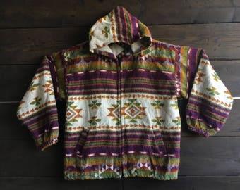 Vintage 90's Aztec Zip-up Hoodie