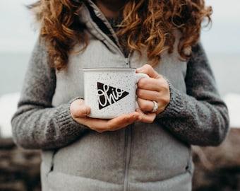 Campfire Mug | Ohio Pennant | Ceramic | Buckeye State | Coffee & Tea