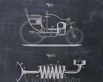 Automobile Patent Print Automobile Art Print