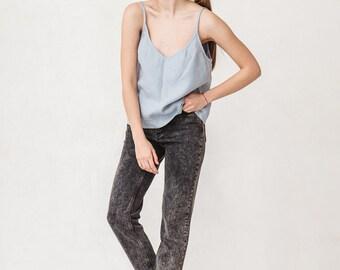 Linen top/ Linen blouse/ Linen basic top/ Top/ Linen shirt/ Summer linen clothes/ #18S HAZEL
