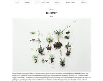 "Responsive Premade Blogger Template - Clean Blog Design - Photography Blog Template - Fashion - Blogspot ""MIDNIGHT"""