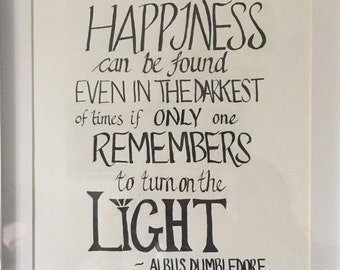 Harry Potter Calligraphy Quote