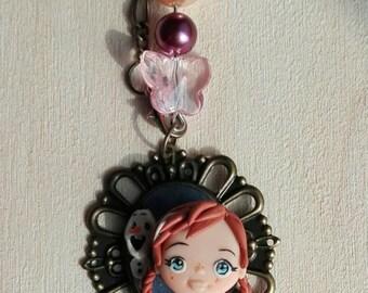 Anna Frozen Pendant Necklace
