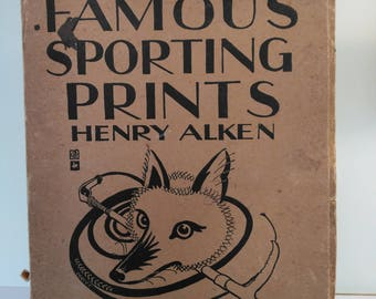 Rare Famous Sporting Prints by Henry Thomas Alken The Studio London First Edition 1929
