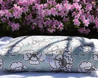 Hayley Dog Bed || Puppy Gift || Small || Stylish Lilly Inspired Iceberg Blue Floral || Custom Embroider Dog Bed by Three Spoiled Dogs