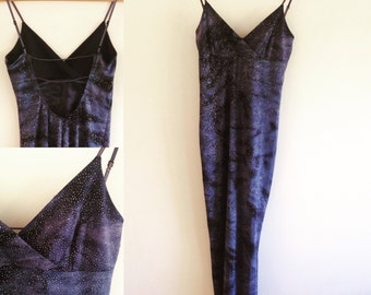 90's silver and navy dress