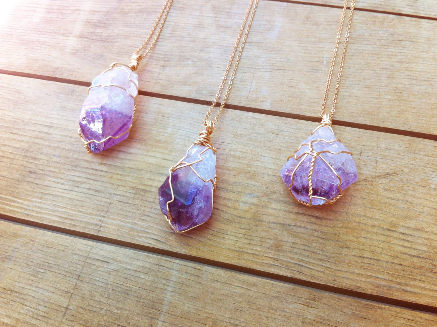 amethysts gold therockstargoddess raw amethyst pin by baile necklace and druzy