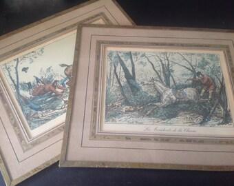 Pair of engravings by Carle vernet