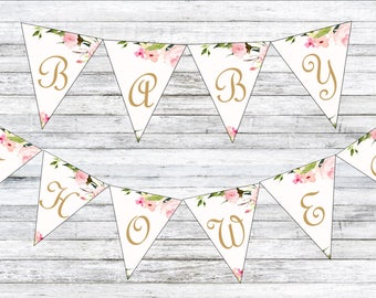 Custom Baby Shower Bunting for charlotte