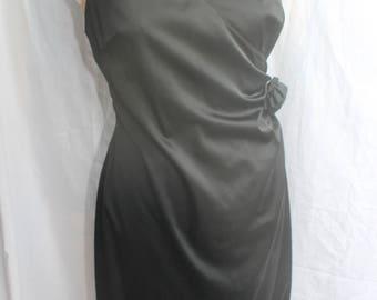 Black halter neck dress REF700