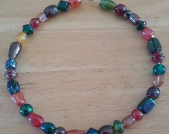 Mulit-Color Memory Wire Necklace