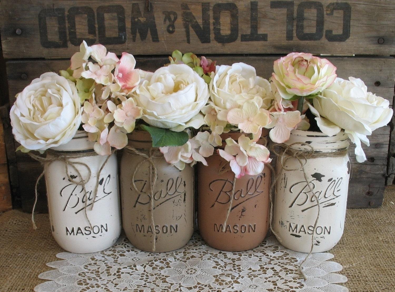Sale set of 4 pint mason jars ball jars painted mason zoom reviewsmspy