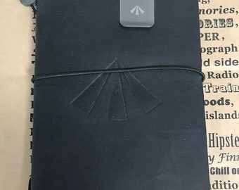 Traveler's Notebook x Nigel Cabourn Army Edition 2nd BLACK Leather Cover Passport size Limited-edition Very Rare Last Item Don't Miss!!